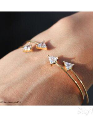 دستبند نگین مثلثی برند vonly