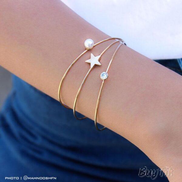 دستبند ستاره و مروارید برند vonly