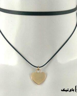 چوکر مدل قلب نقره ای